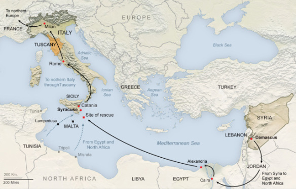 syrian migration routes